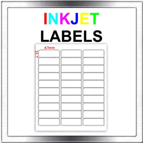 450 Inkjet Address Return To Sender Labels 30 Per Sheet Ebay Return Address Labels Template 30 Per Sheet