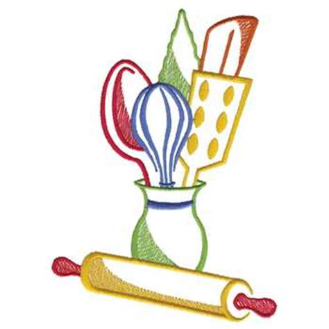 kitchen utensils embroidery designs machine embroidery