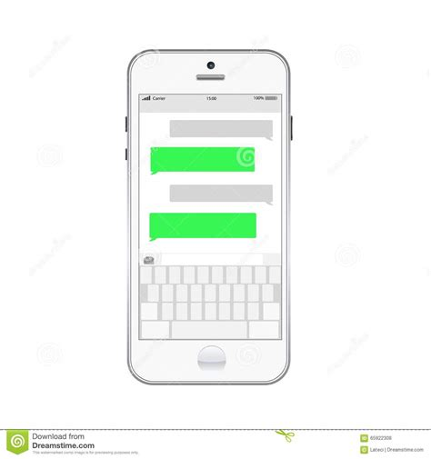 text message templates smartphone chatting sms template bubbles stock vector