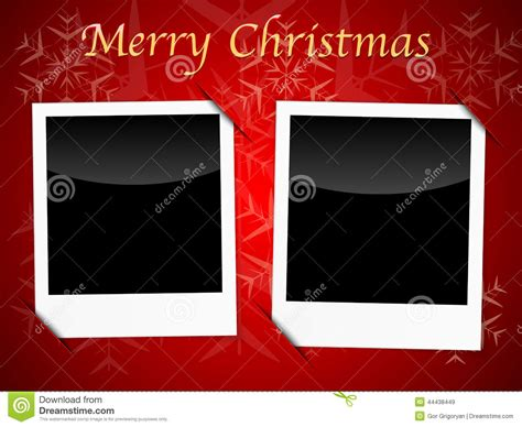 photo frame card template card templates on snowflake background stock