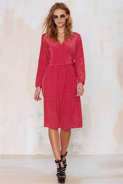 gal vintage diane furstenberg drea silk dress in