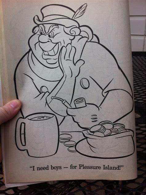 Found in a children's coloring book. (Pinocchio) : funny
