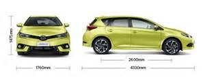 Curtain Dimensions Length By Width Corolla Hatch Glx Specifications Toyota Nz