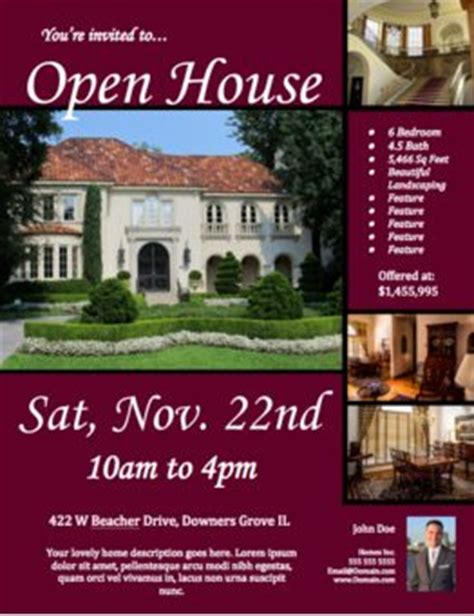 free open house flyer template click to view download