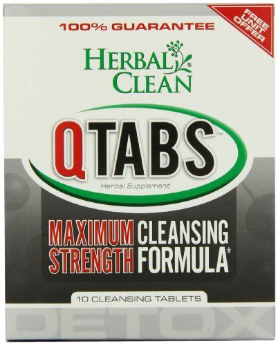 Verdant Herbal Detox Reliability by B N G Herbal Clean Detox Q Tabs Maximum Strength