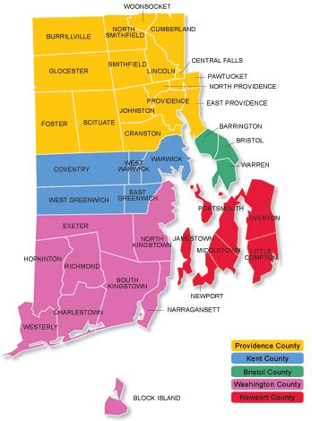 map of rhode island counties about southern rhode island area health education center