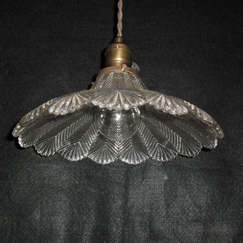 Holophane Pendant Light Fixture Zipper Glass Shade Sold Light Fixture Shades