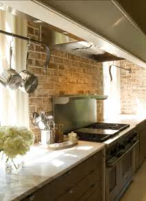 Kitchen With Brick Backsplash by Brick Backsplashes Rustic And Full Of Charm Bricks