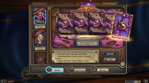amazon hearthstone pre purchase whispers of the old gods is live purchase w