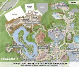 disneyland s wars land expansion layout shown in map