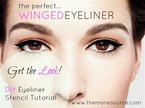 tutorial eyeliner stencil pretty perfected diy winged eyeliner stencil tutorial
