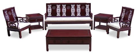 china sofa set rosewood longevity design sofa 6 piece set asian