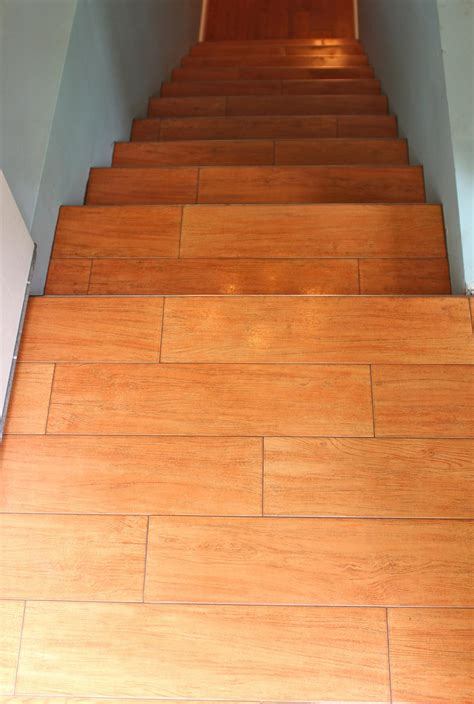 Wood Like Tile Stairs The Home Pinterest Stairs Tiles For Staircase