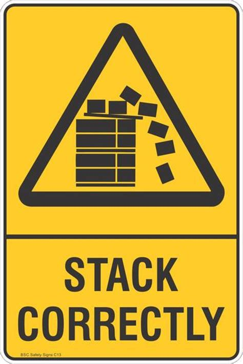 Stiker Horn Warning Sign stack correctly warning safety signs stickers safety signage bsc safety signs australia