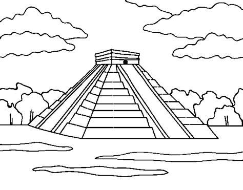imagenes mayas para dibujar dibujo de pir 225 mide de chich 233 n itz 225 para colorear dibujos net