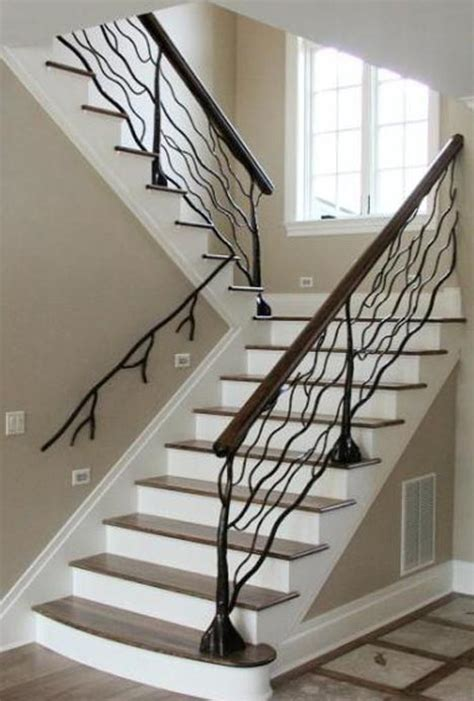 custom metal handrail designs for staircases balconies