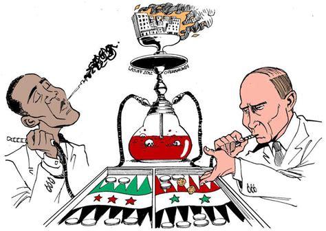 Good Wall Colors obama and putin smoking hookah and playing backgammon hookah