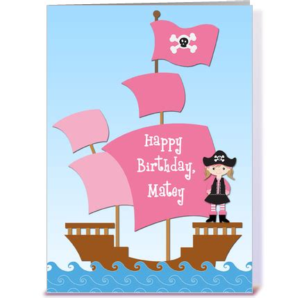 printable birthday cards pirate card invitation design ideas card front large simple