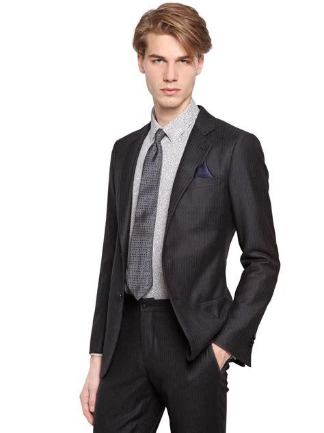 Kerudung Pasmina Armani Silk 1 giorgio armani soho wool silk pinstripe suit in blue for lyst