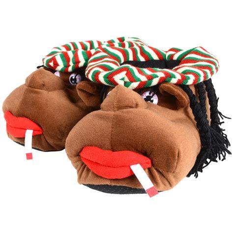 rasta slippers mens slippers cosy rasta character plush novelty