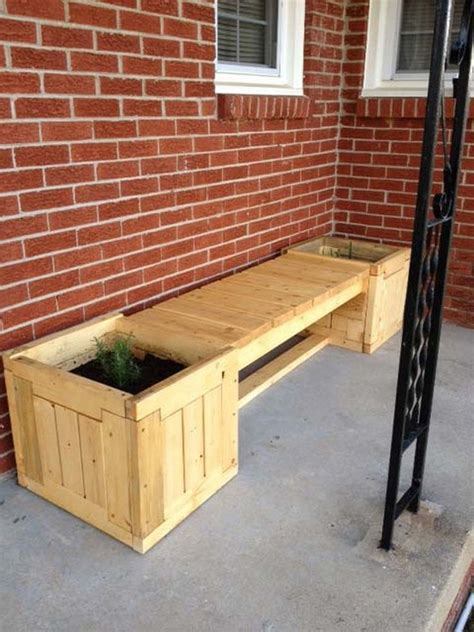 how to build a planter box bench 26 creative pallet upcycling projects pallet wood projects