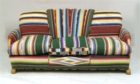 mexican sofa a mexican serape upholstered rattan sofa