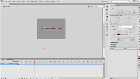 tutorial flash professional cs6 tutorial cepat cara membuat teks animasi pada adobe flash