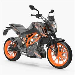 Ktm Bike Models 3d Model Motorcycle Ktm Duke 390