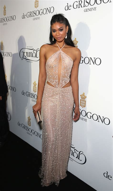 Iman Dress chanel iman cutout dress chanel iman looks stylebistro