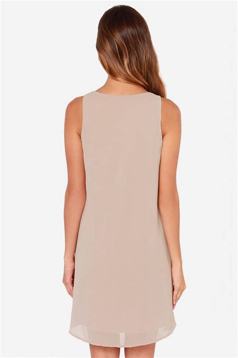 taupe beaded dress taupe dress beaded dress sleeveless dress 40 00