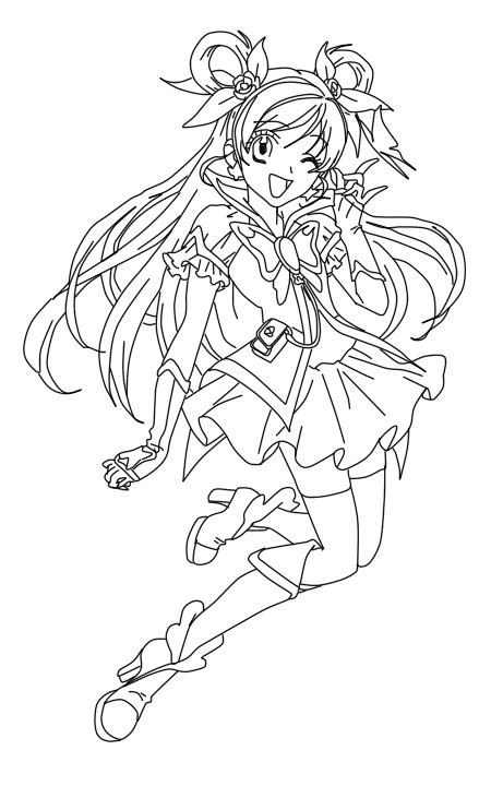 pretty cure characters anime coloring pages for kids printable free yes precure 5 coloring pages coloring pages