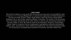 Trademark Disclaimer Template by File Hunt For Gollum Disclaimer Png