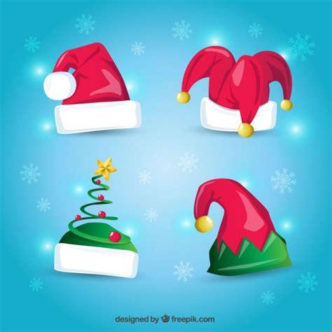 imagenes de navidad animados gratis gorros de navidad de dibujos animados descargar vectores