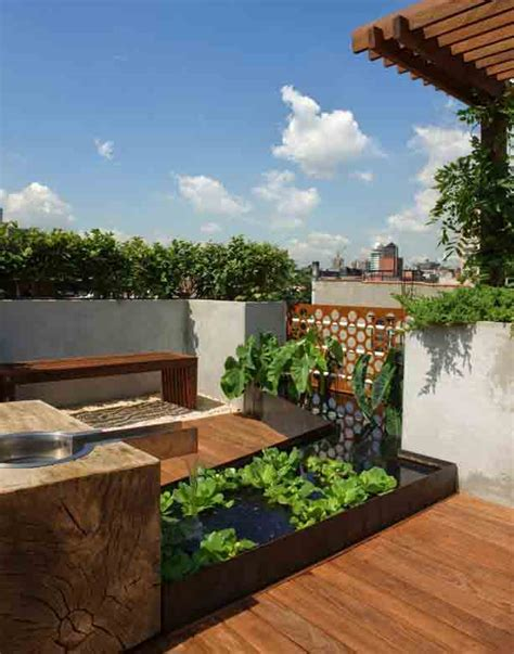 Rooftop Patio Design New York City Rooftop Garden Offers Views And Privacy Gardens