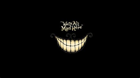 11gfn T Shirt Cheshire Cat Hitam wallpaper of we re all mad here