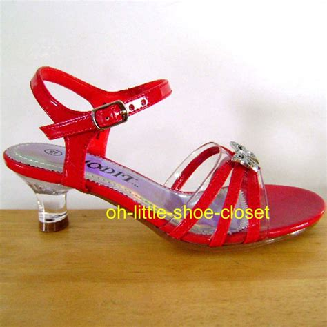 youth buckle medium pageant crowning dress sandal