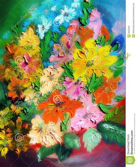 immagini fiori dipinti fiori dipinti variopinti fotografia stock immagine 38959367