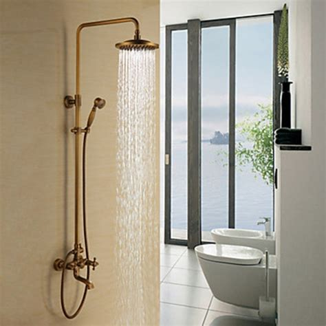 shower head for bathtub faucet antique brass tub shower faucet with 8 inch shower head hand shower