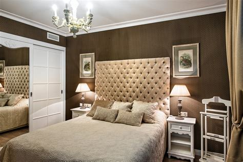 white and beige bedroom elegant small apartment in beige brown with a windowless
