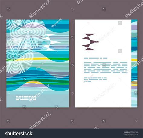 shutterstock design elements and layout flyer leaflet booklet layout editable design stock vector