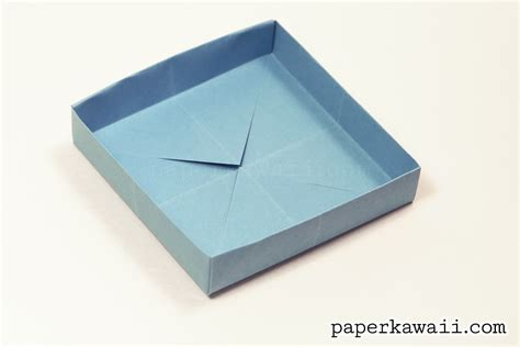 How To Fold A Paper Box With A4 Paper - origami how to make a paper box easy origami box how to