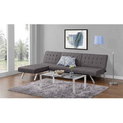 emily futon with chaise lounger multiple colors chaise lounge futon roselawnlutheran