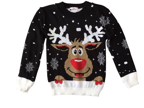 childrens jumper boys retro rudolph winter sweater new ebay