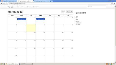 Bootstrap Calendar Template by Calendar Events Bootstrap Calendar Template 2016
