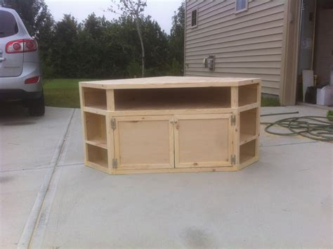 building a corner tv cabinet how to build your own diy corner tv stand things for my