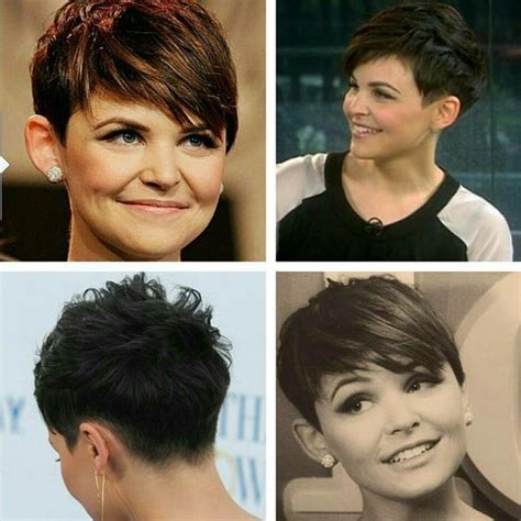 360 view of pixie haircuts with long bangs ginnifer goodwin pixie cut side and back views hair