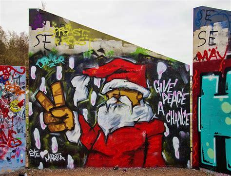 Cityscape Wall Murals christmas graffiti pentaxforums com