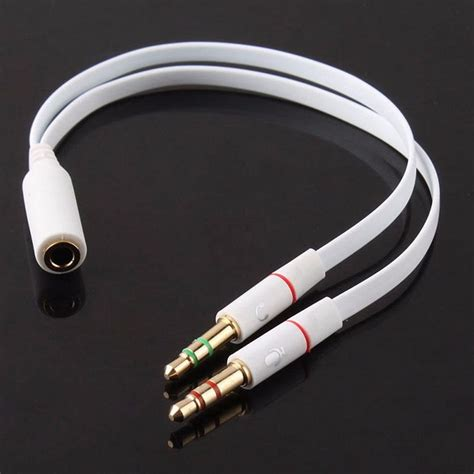 Spliter Audio 35mm Ke Headphone Mic cable adaptador 3 5mm mic audifono 2 a 1 hembra pc