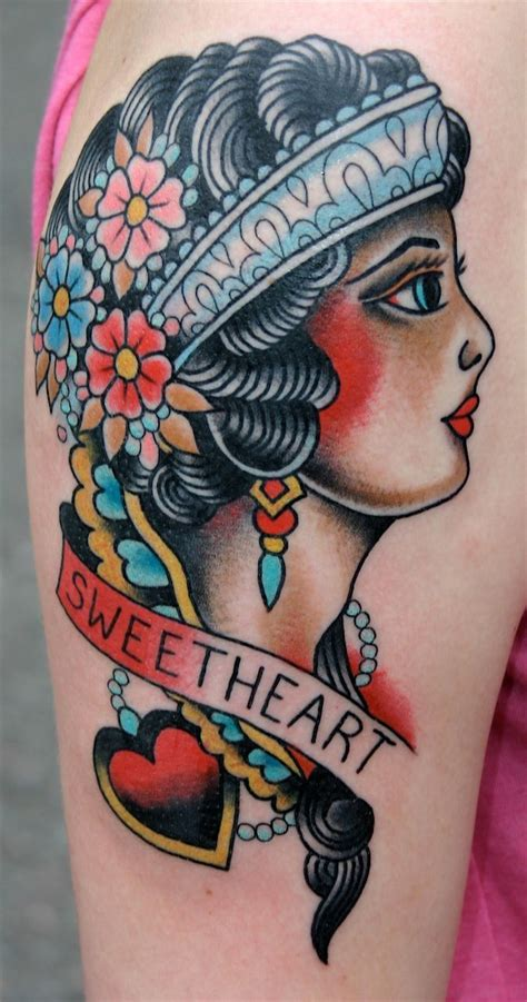 traditional pinup tattoo 17 best images about traditional doll faces on