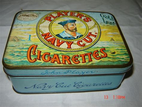 Furniture Kitchener by Players Navy Cut 50 Cigarettes Tin Circa Early 1900 S